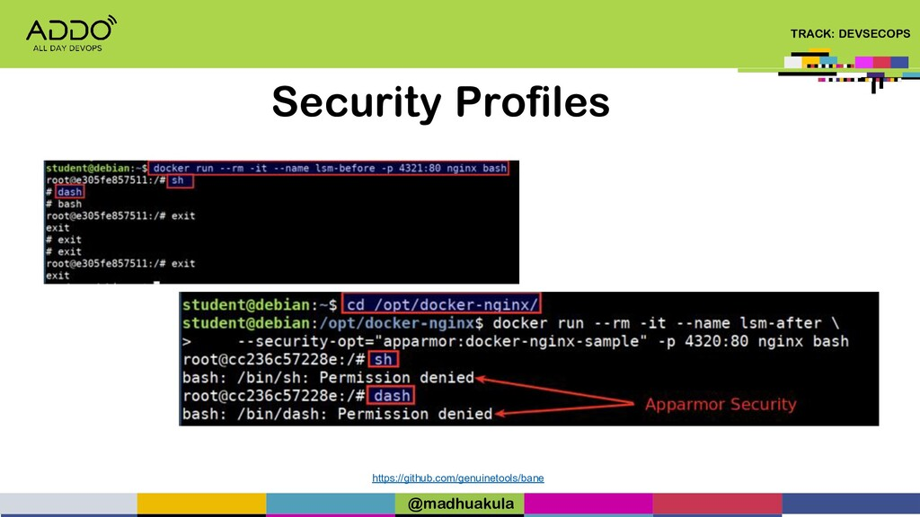 TRACK: DEVSECOPS Security Profiles https://gith...