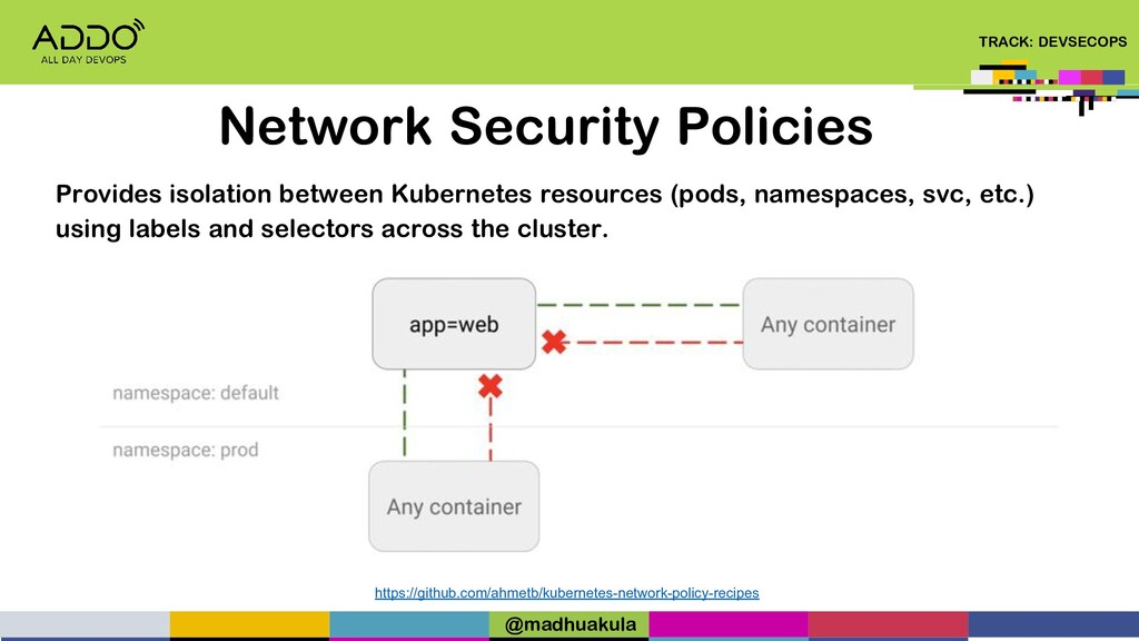 TRACK: DEVSECOPS Network Security Policies http...