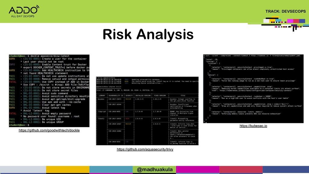 TRACK: DEVSECOPS Risk Analysis https://github.c...