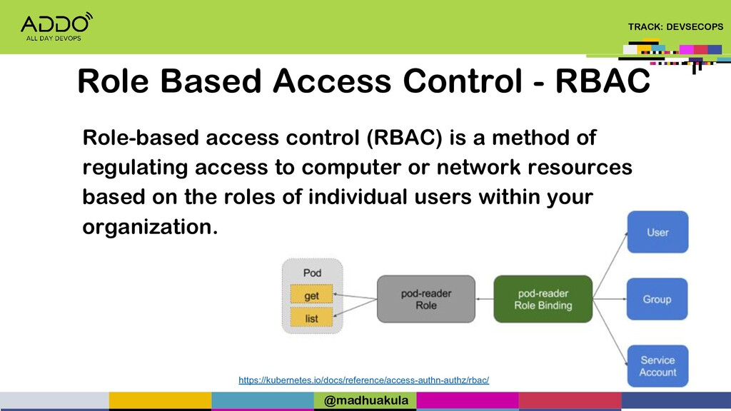 TRACK: DEVSECOPS Role-based access control (RBA...