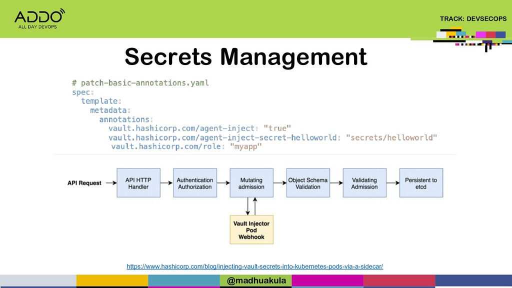 TRACK: DEVSECOPS Secrets Management https://www...