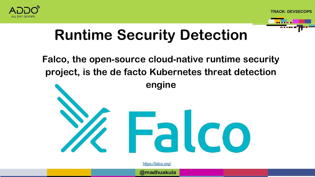 TRACK: DEVSECOPS Runtime Security Detection htt...