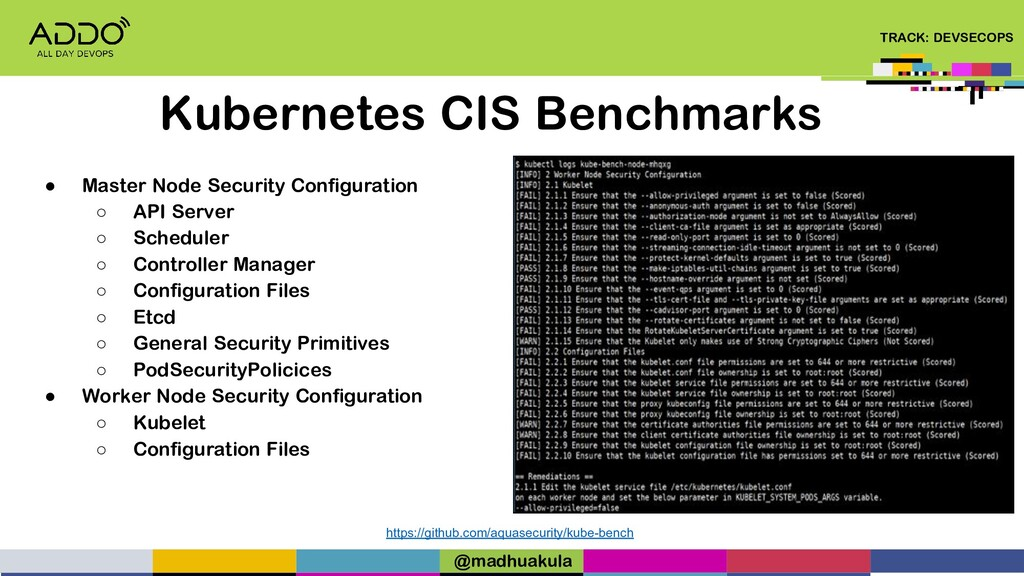 TRACK: DEVSECOPS Kubernetes CIS Benchmarks http...