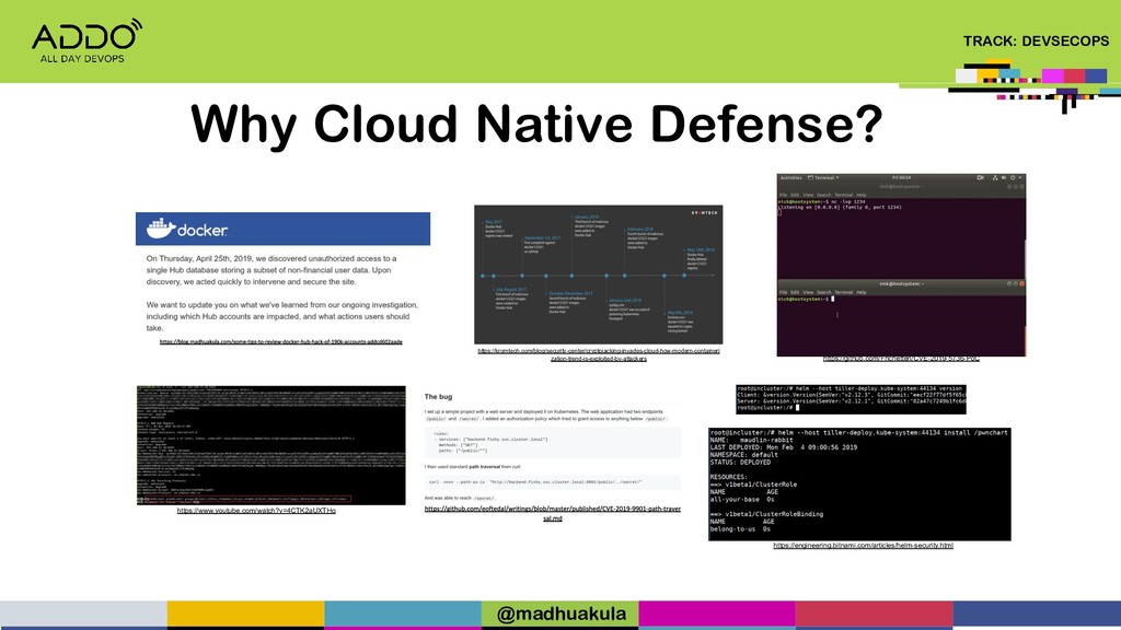 TRACK: DEVSECOPS Why Cloud Native Defense? http...