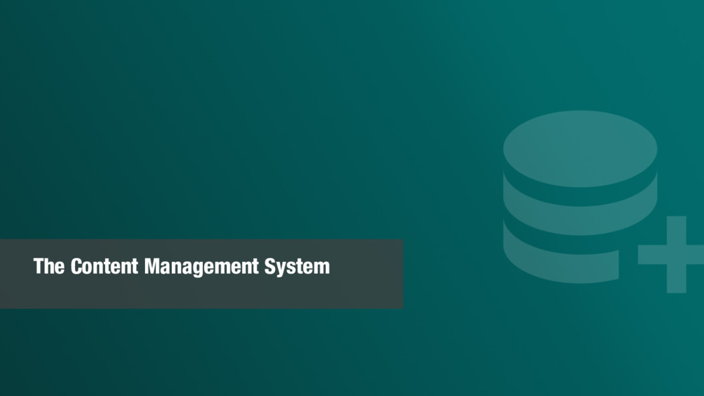 The Content Management System