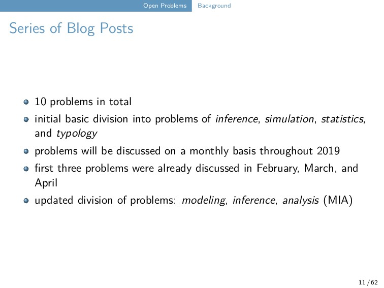 Open Problems Background Series of Blog Posts 1...