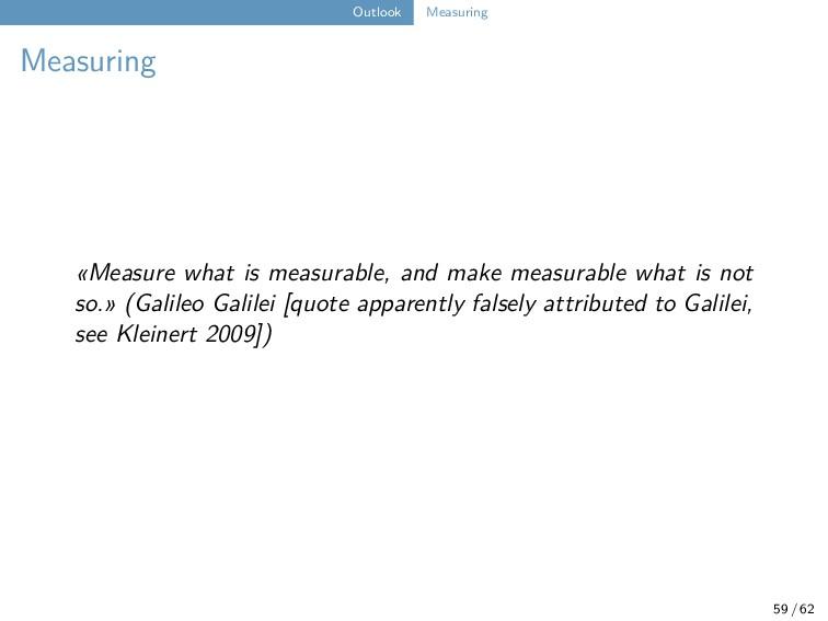 Outlook Measuring Measuring «Measure what is me...