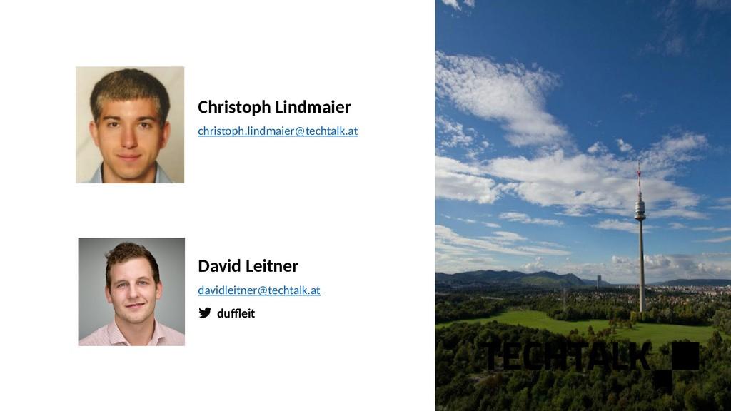 dufeit Christoph Lindmaier christoph.lindmaier@...