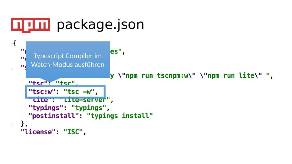 Typescript Compiler im Watch-Modus ausführen pa...