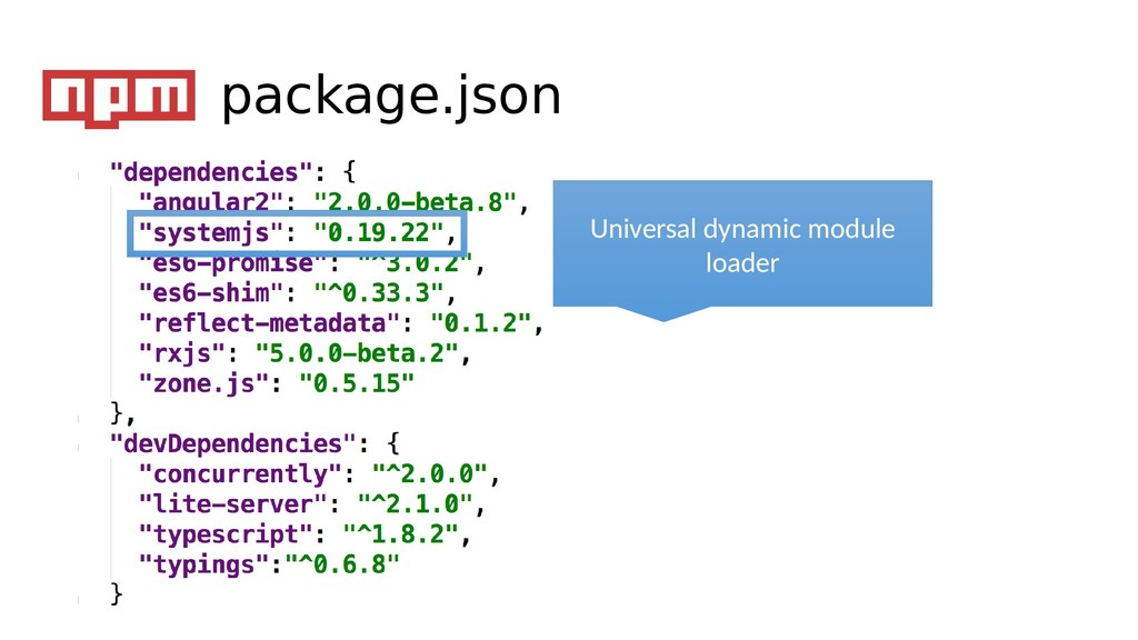 Universal dynamic module loader package.json