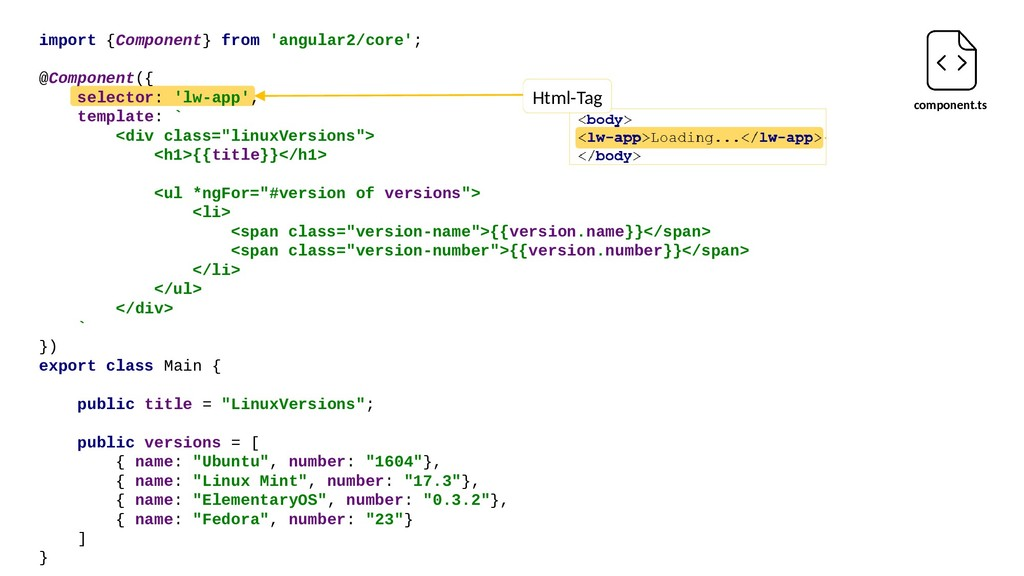 Html-Tag component.ts import {Component} from '...