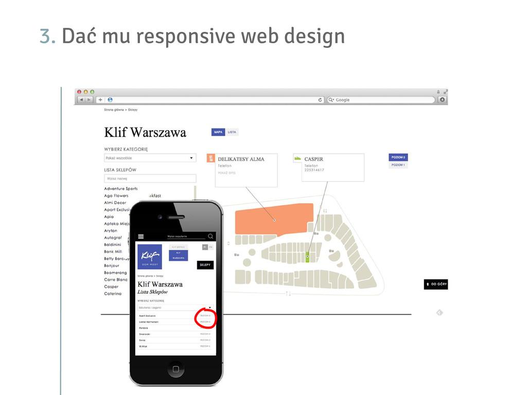3. Dać mu responsive web design