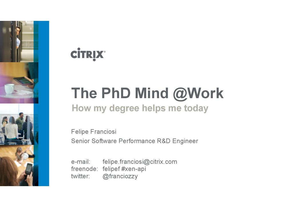 Senior Software Performance R&D Engineer Felipe...