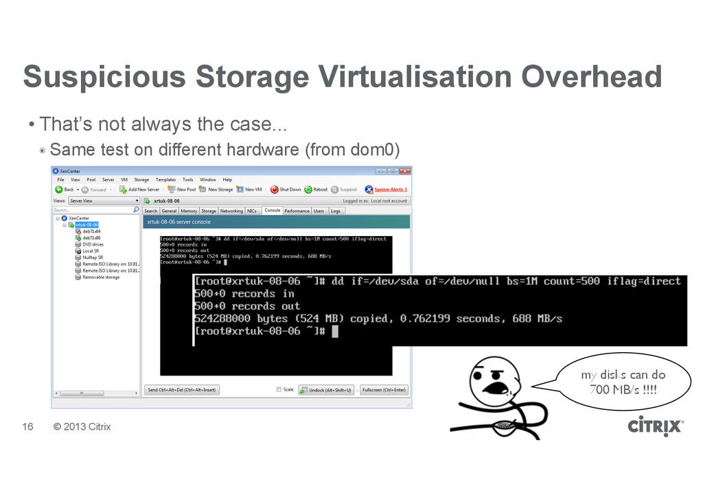 © 2013 Citrix Suspicious Storage Virtualisation...