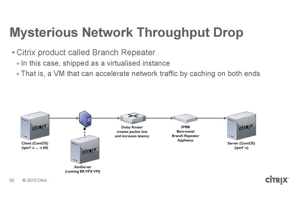 © 2013 Citrix Mysterious Network Throughput Dro...