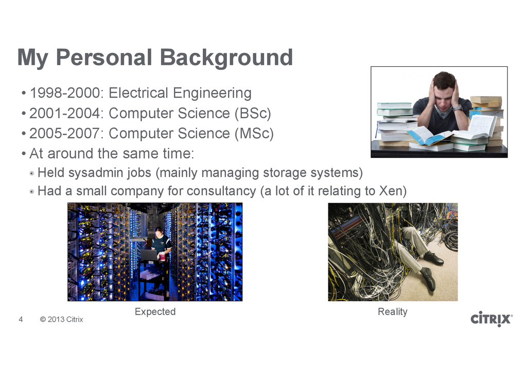 © 2013 Citrix My Personal Background • 1998-200...