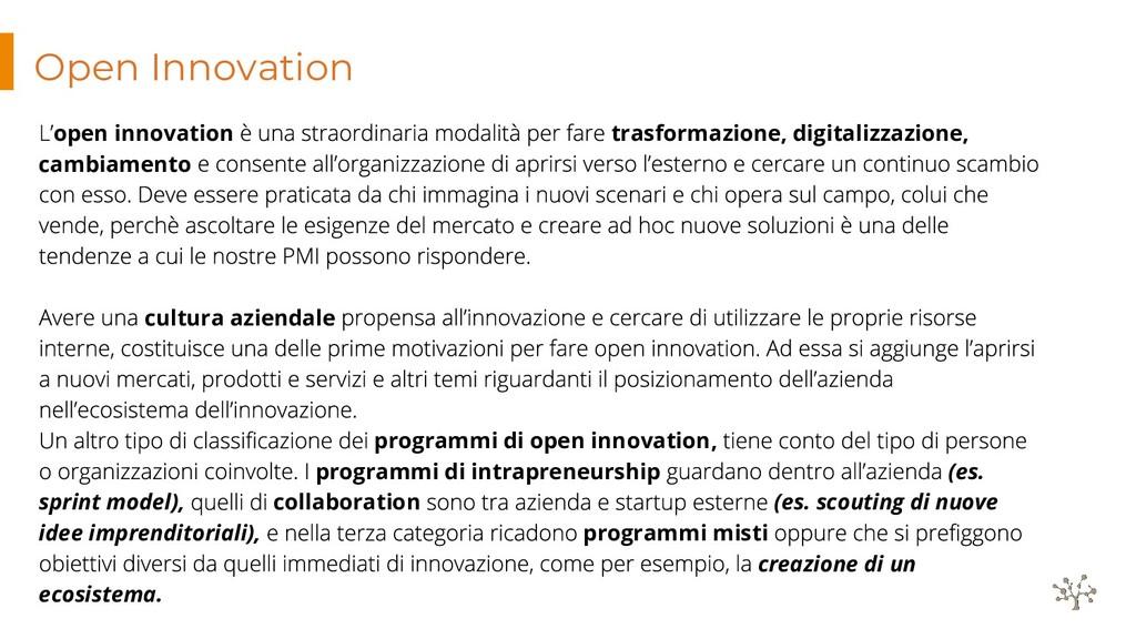 Open Innovation open innovation trasformazione,...