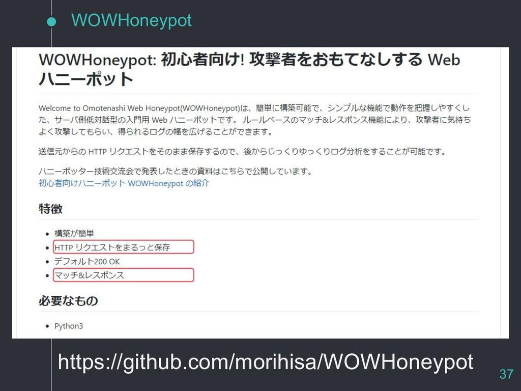 WOWHoneypot https://github.com/morihisa/WOWHone...