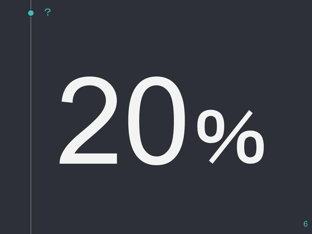 20% ? 6