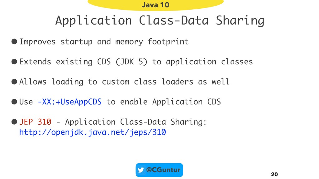 @CGuntur Application Class-Data Sharing •Improv...