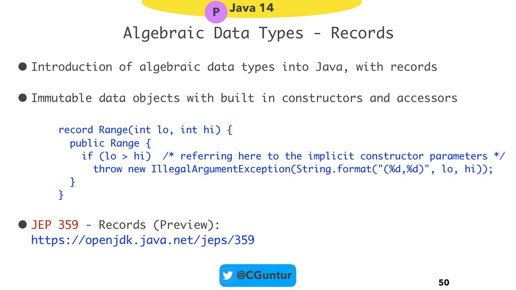 @CGuntur Algebraic Data Types - Records • Intro...