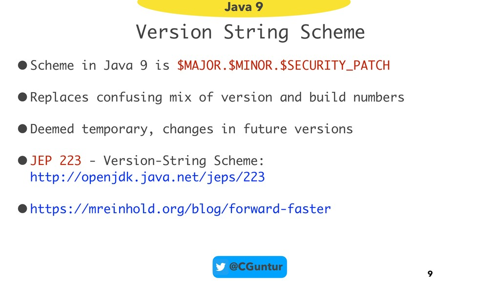 @CGuntur Version String Scheme •Scheme in Java ...