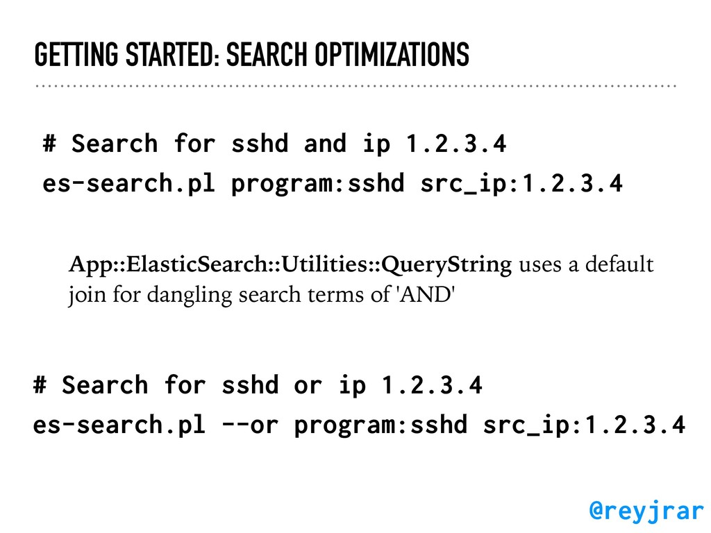 GETTING STARTED: SEARCH OPTIMIZATIONS # Search ...