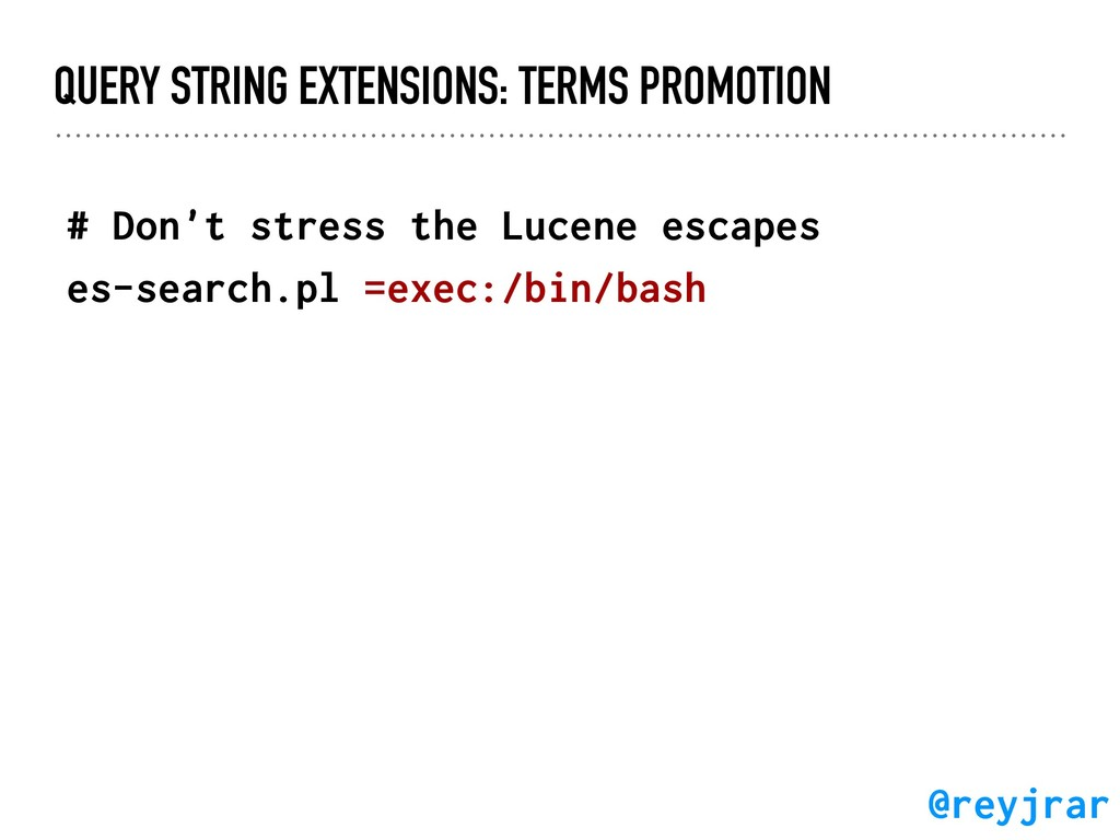 QUERY STRING EXTENSIONS: TERMS PROMOTION # Don'...
