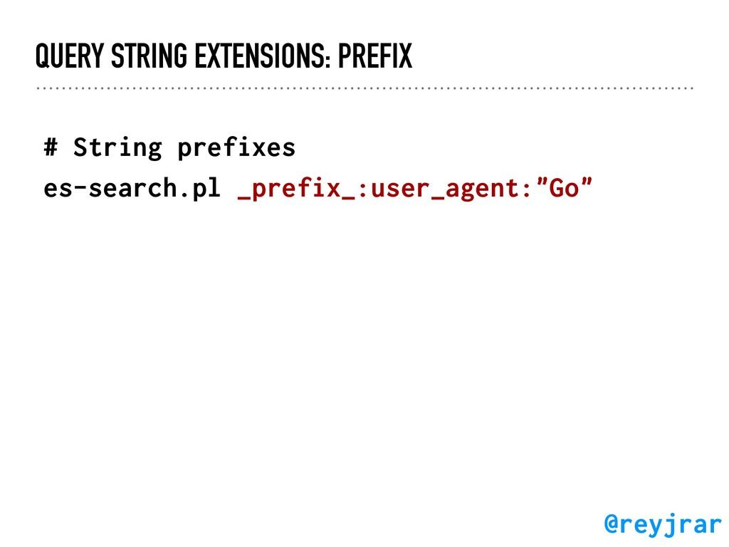 QUERY STRING EXTENSIONS: PREFIX # String prefix...