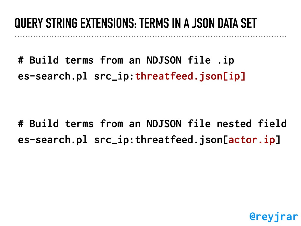 QUERY STRING EXTENSIONS: TERMS IN A JSON DATA S...