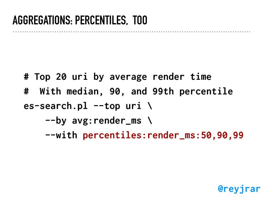 AGGREGATIONS: PERCENTILES, TOO # Top 20 uri by ...