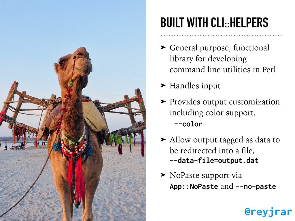 BUILT WITH CLI::HELPERS ➤ General purpose, func...