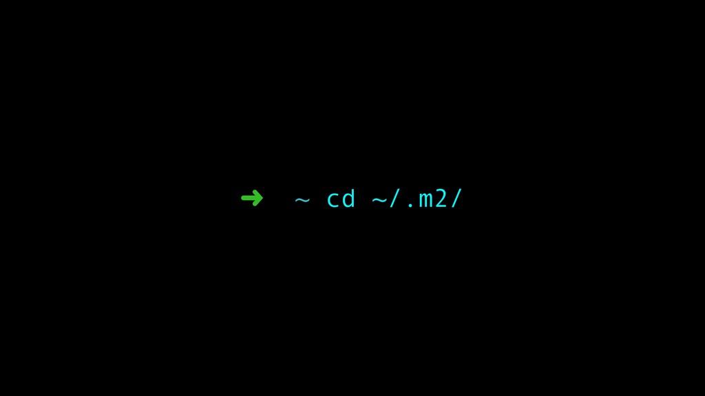 ➜ ~ cd ~/.m2/