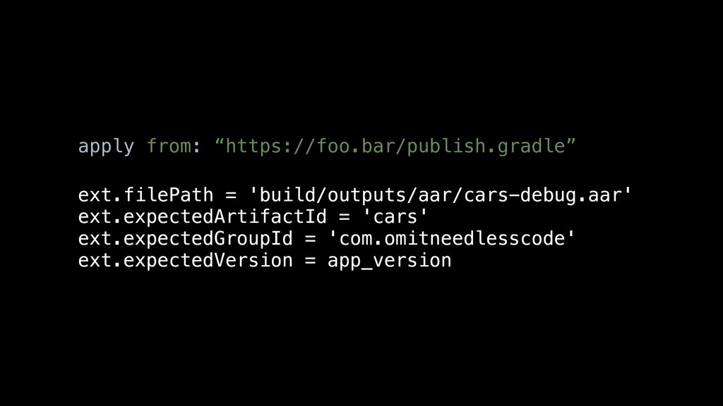 "apply from: ""https://foo.bar/publish.gradle"" ex..."