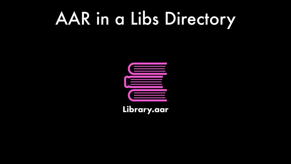 AAR in a Libs Directory Library.aar
