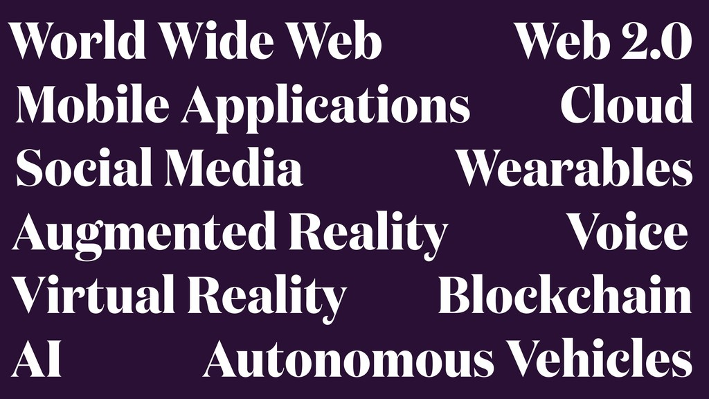 World Wide Web Mobile Applications Social Media...