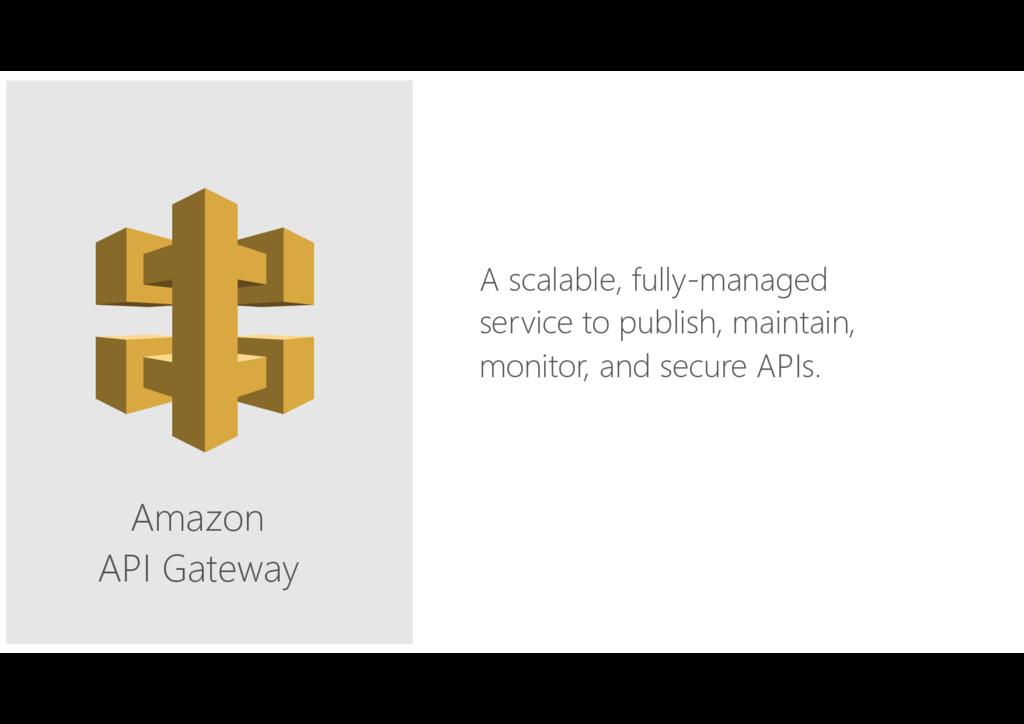 Amazon API Gateway A scalable, fully-managed se...