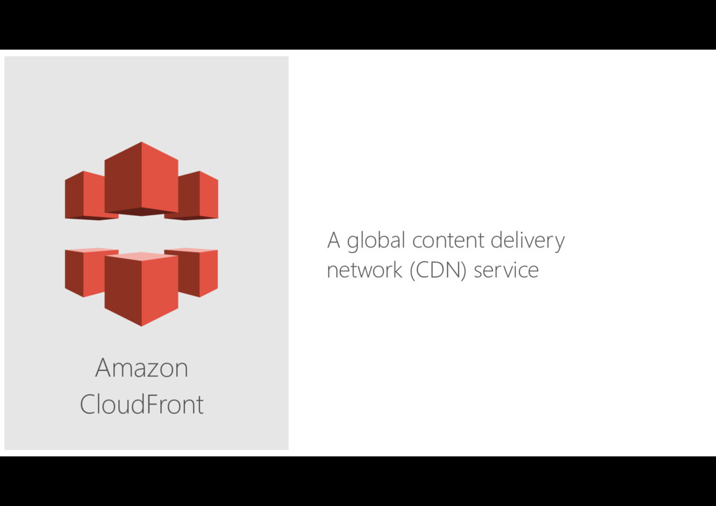 Amazon CloudFront A global content delivery net...