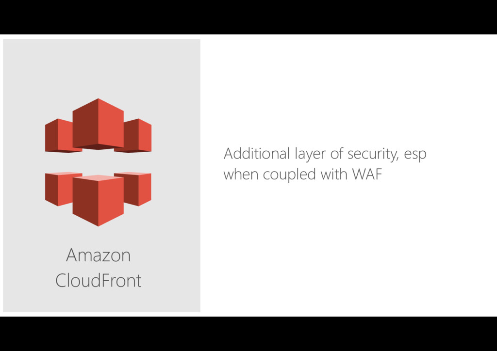Amazon CloudFront Additional layer of security,...