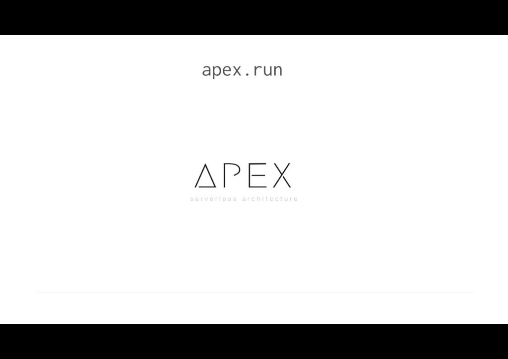 apex.run