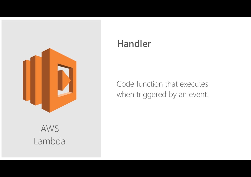 AWS Lambda Code function that executes when tr...