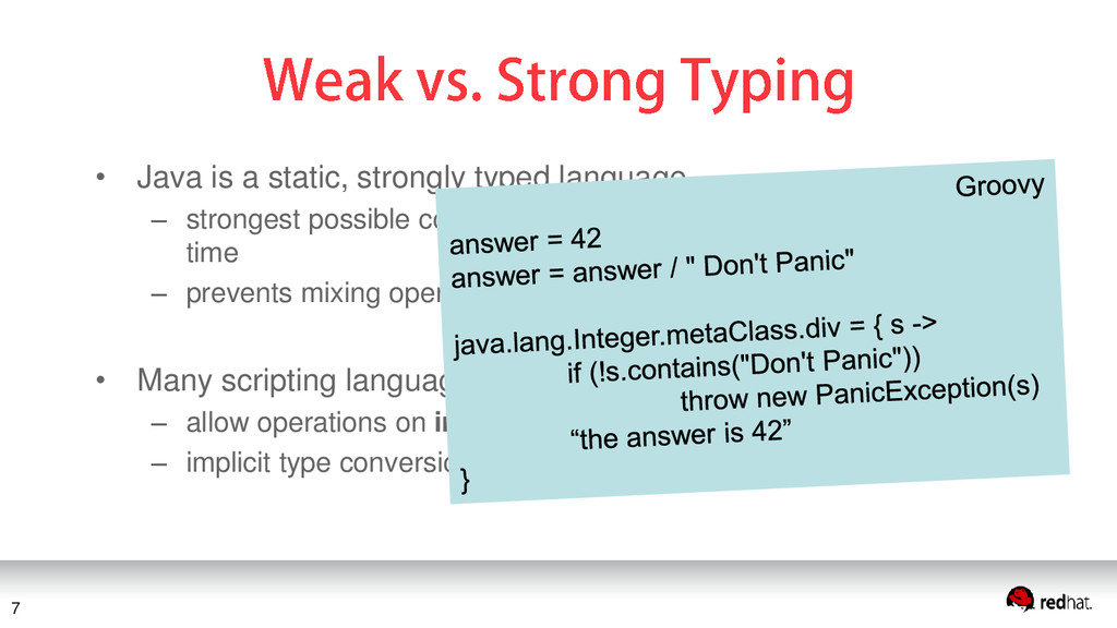 • Java is a static, strongly typed language – s...