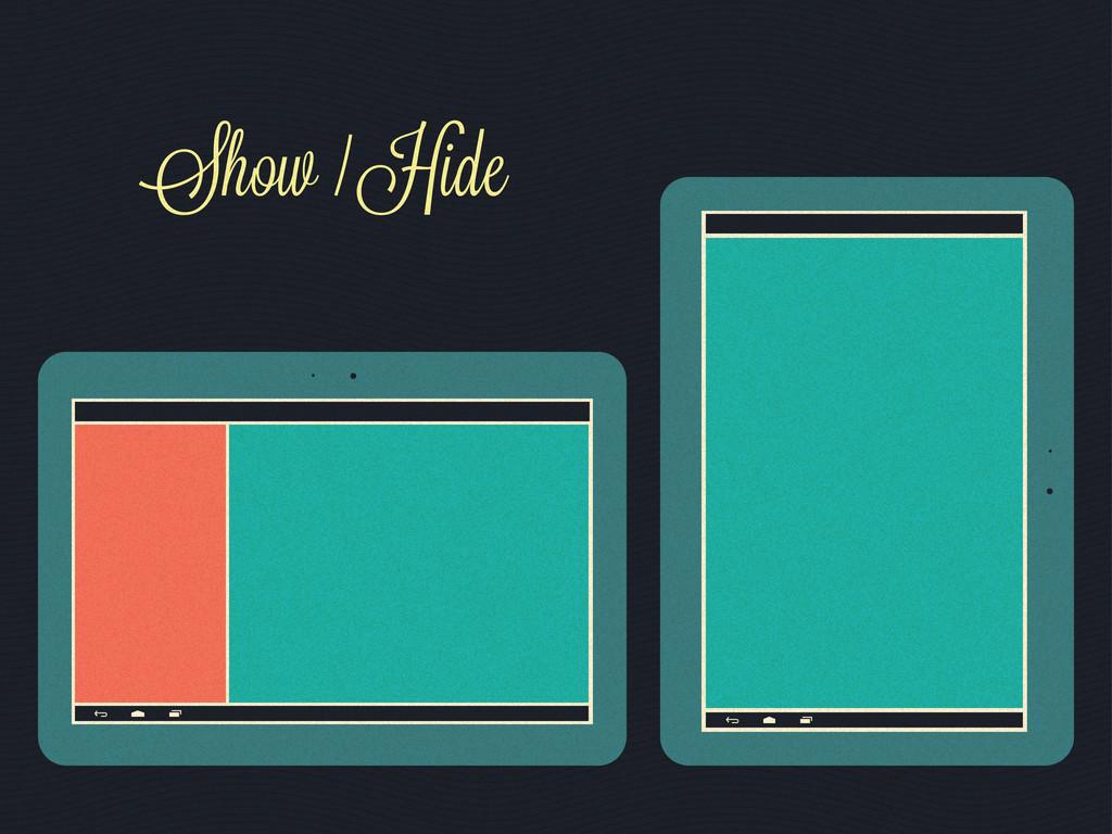 Show / Hide