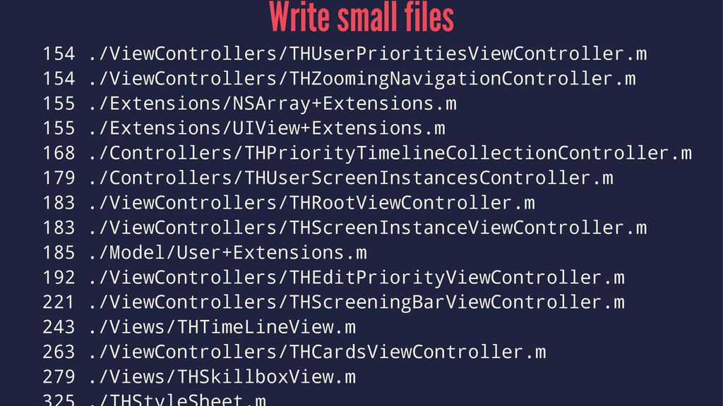 Write small files 154 ./ViewControllers/THUserP...
