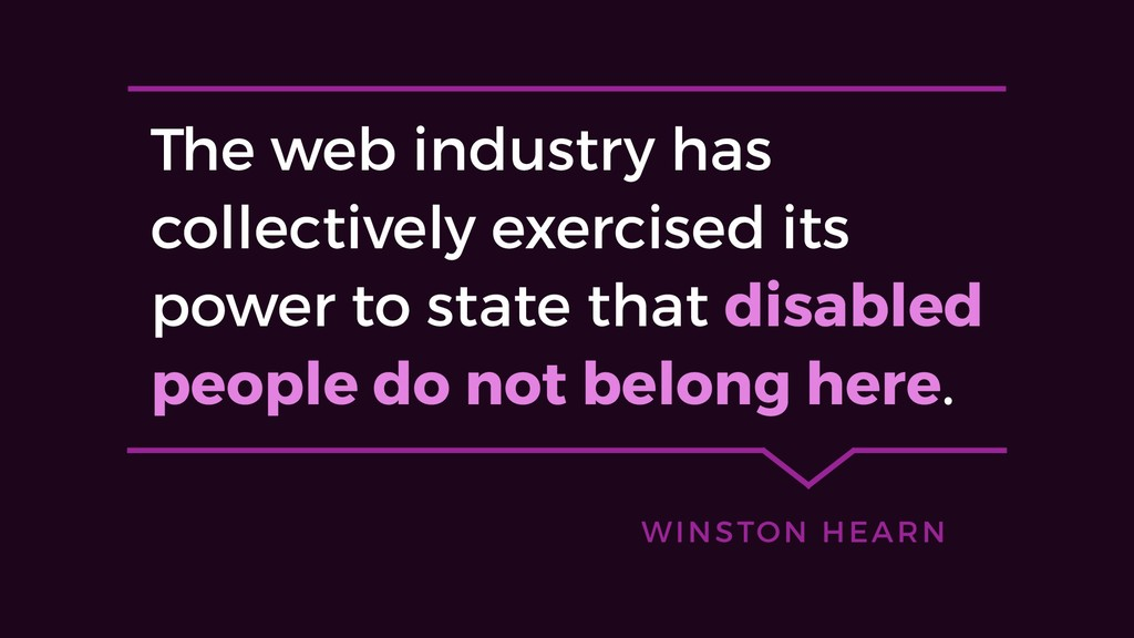 The web industry has collectively exercised its...
