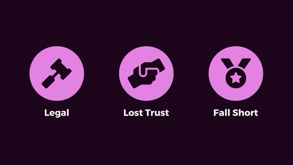 Legal Lost Trust Fall Short # $ %