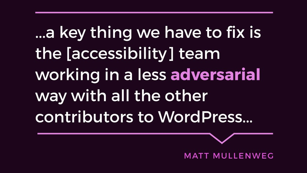...a key thing we have to fix is the [accessibi...