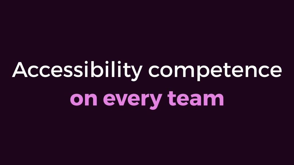 Accessibility competence  on every team