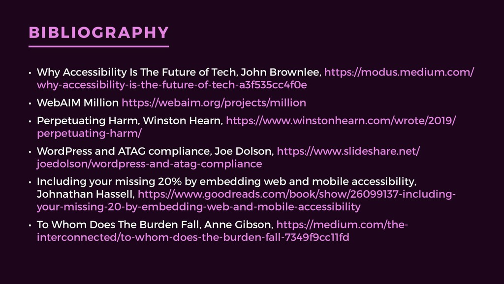 BIBLIOGRAPHY • Why Accessibility Is The Future ...