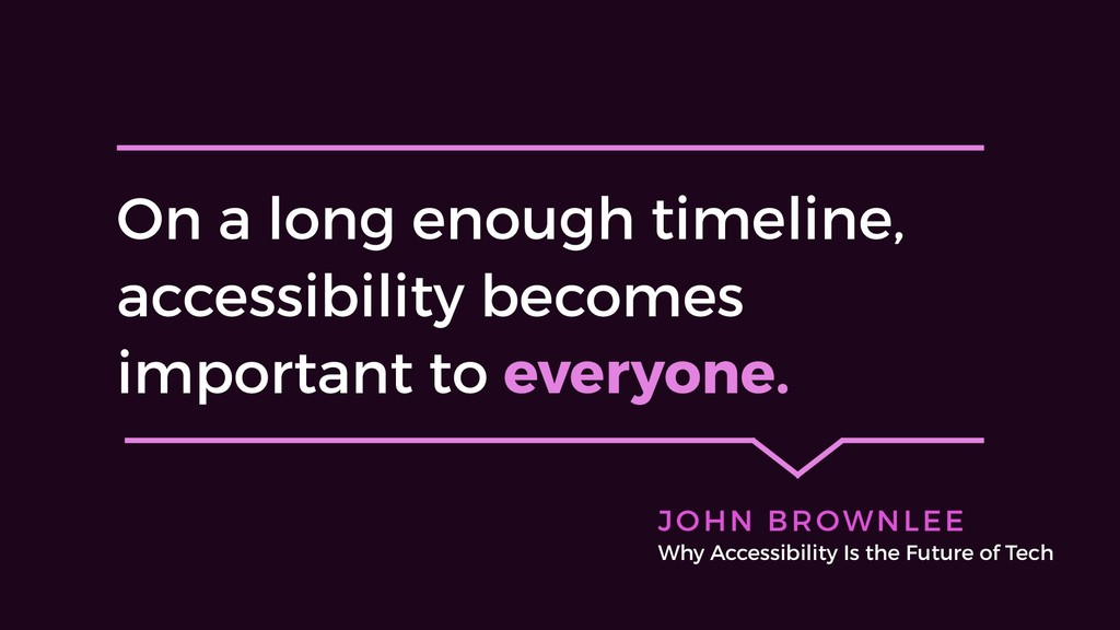 On a long enough timeline, accessibility become...